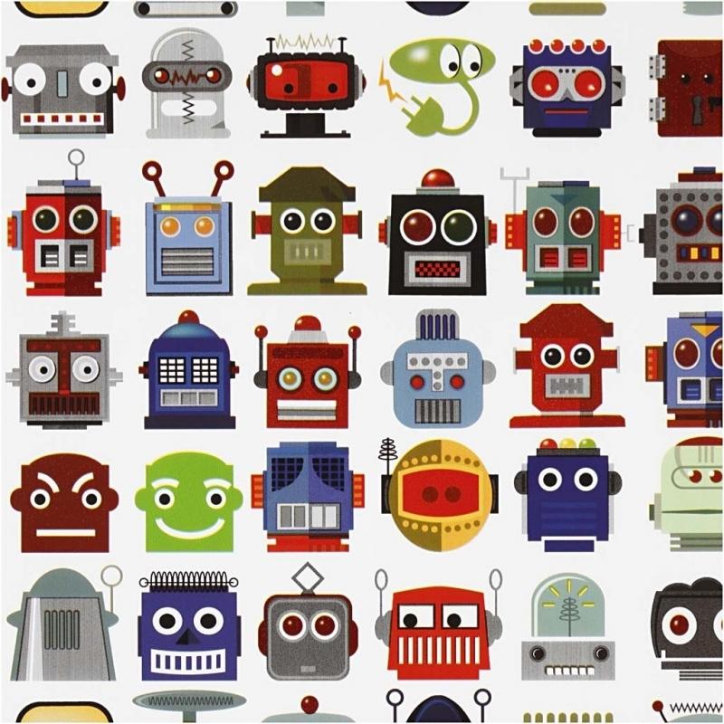 Image of 1 rol robot cadeaupapier 5 meter