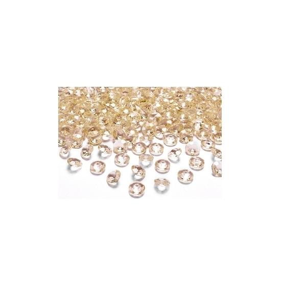 Image of 10 decoratie diamantjes goud 2 cm
