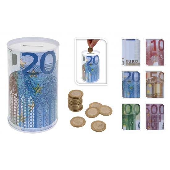 Image of 10 eurobiljet spaarpot 13 cm