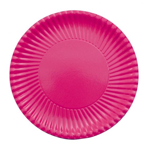 Image of 10 fuchsia roze bordjes van karton