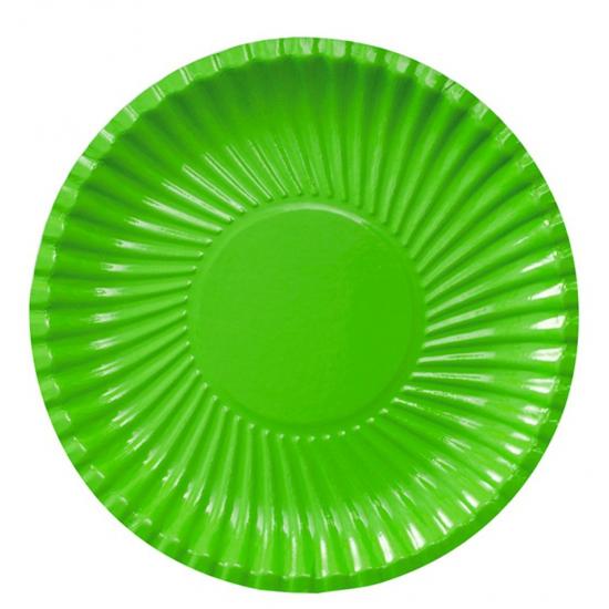 Image of 10 groene bordjes van karton