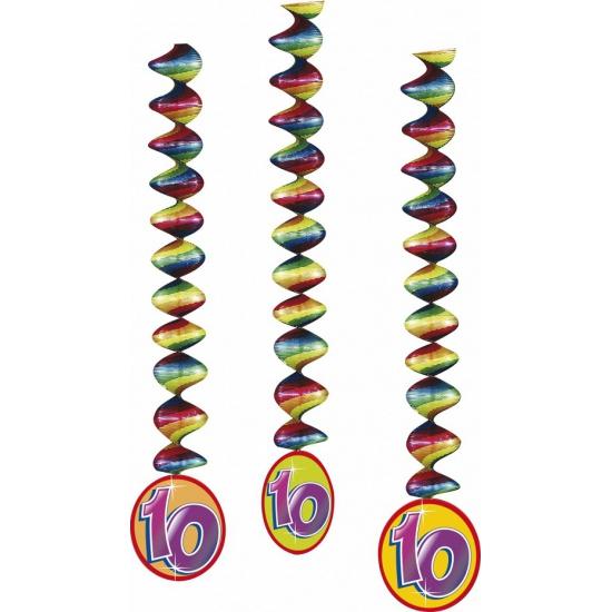 Image of 10 jaar decoratie spiralen 3 stuks