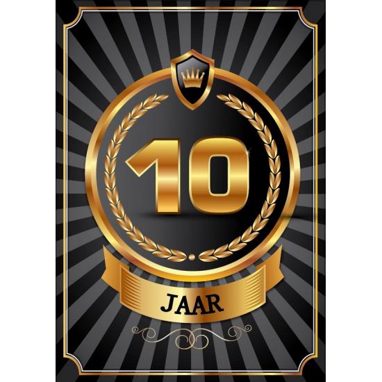 Image of 10 jaar zwart met goud poster