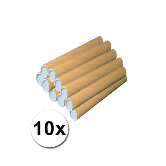 Image of 10 kartonnen knutsel materiaal kokers 50x5 cm