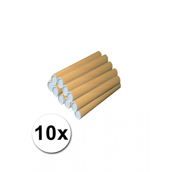 Image of 10 kartonnen kokers knutselartikel 31x4 cm