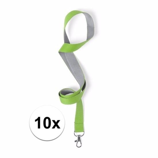 Image of 10 keycords groen/grijs 2 x 50 cm