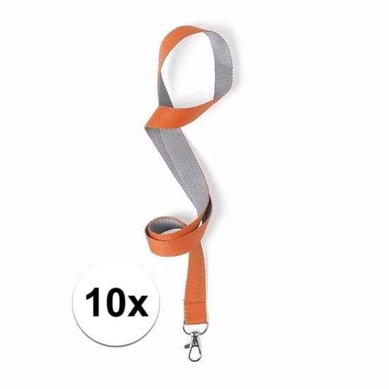 Image of 10 keycords oranje/grijs 2 x 50 cm