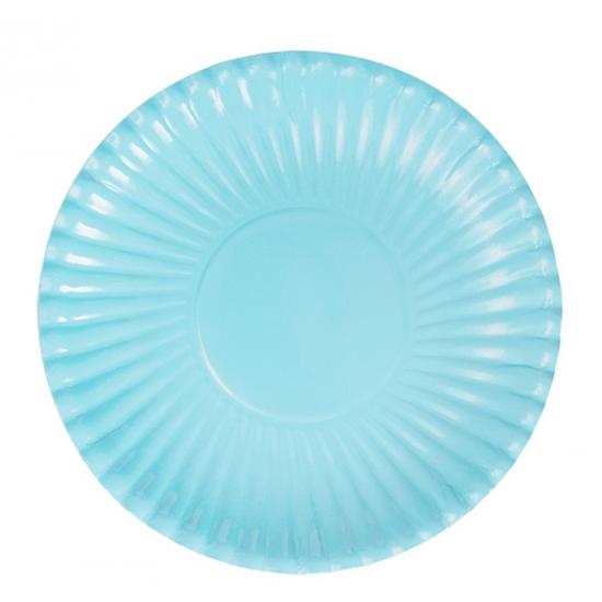 Image of 10 lichtblauwe bordjes van karton
