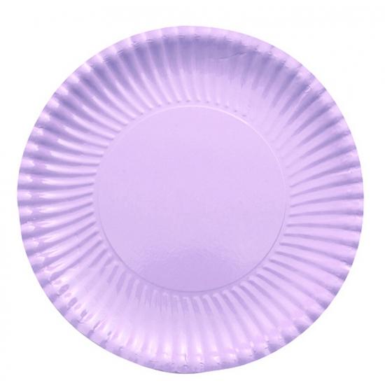 Image of 10 lila paarse bordjes van karton