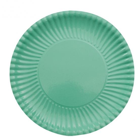Image of 10 mint groene bordjes van karton