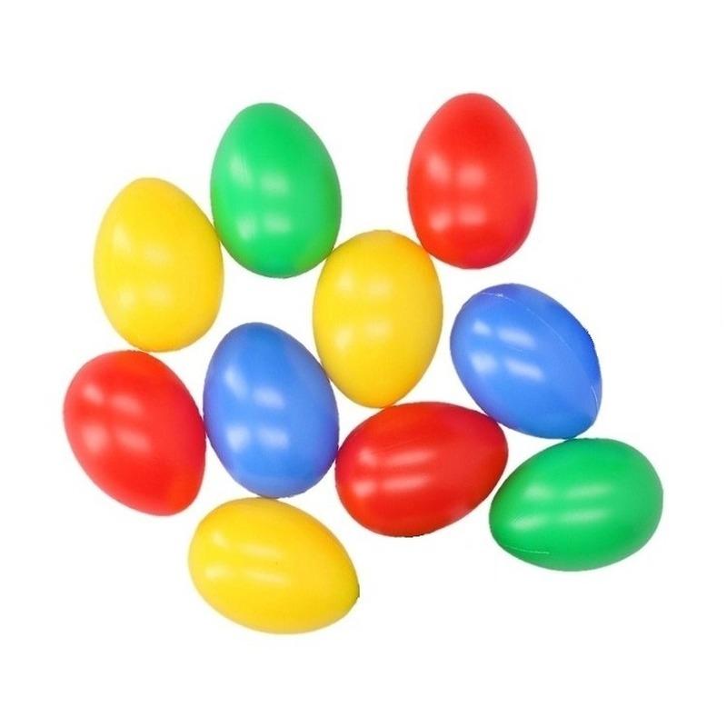 Image of 10 nep eieren in vrolijke kleuren