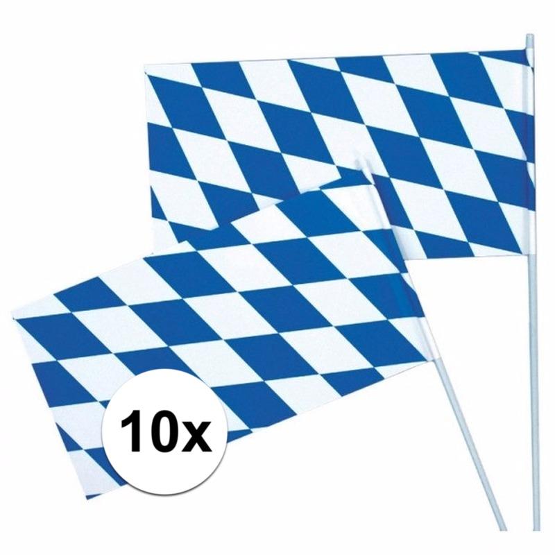 Image of 10 stuks Zwaaivlaggen Oktoberfest