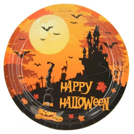 Image of 10 x Happy Halloween bordjes 18 cm