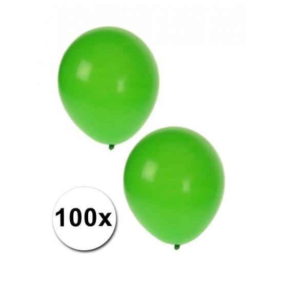 Image of 100 Groene versierings ballonnen