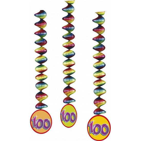 Image of 100 jaar feest decoratie spiralen
