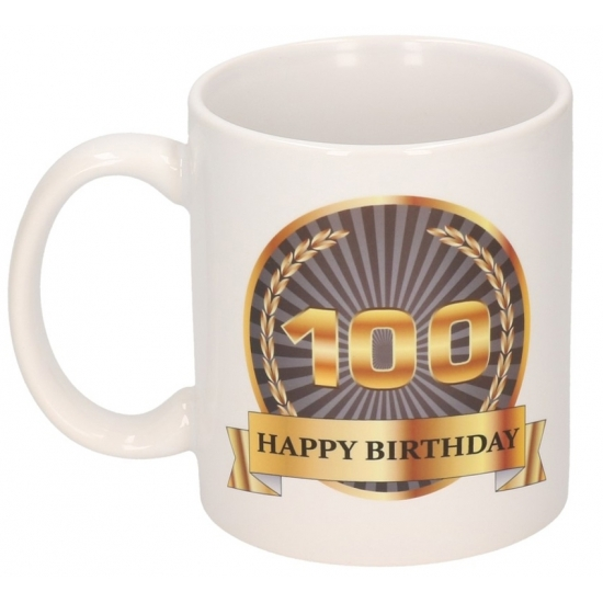 Image of 100 jaar Happy birtyday theemok 300 ml