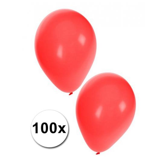 Image of 100 Rode dekoratie ballonnen
