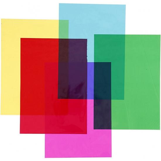 Image of 100 vellen cellofaan gekleurd