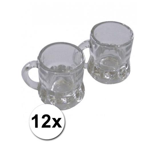 Image of 12 Kleine shotglaasjes met handvat 2cl