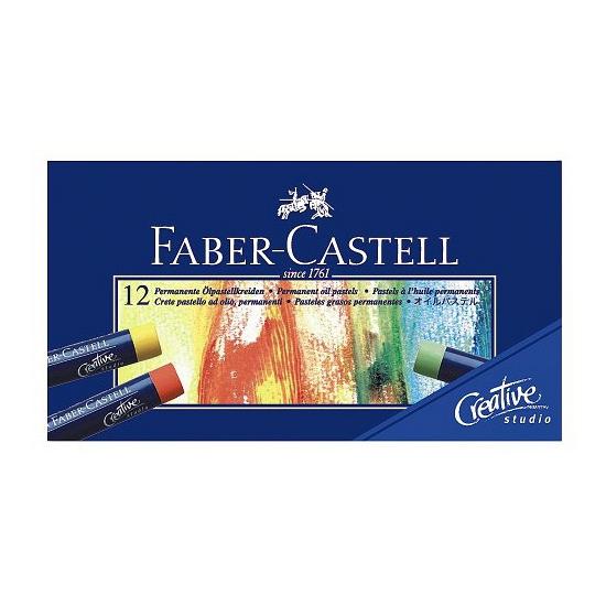 Image of 12x oliepastelkrijt Faber castell 11mm