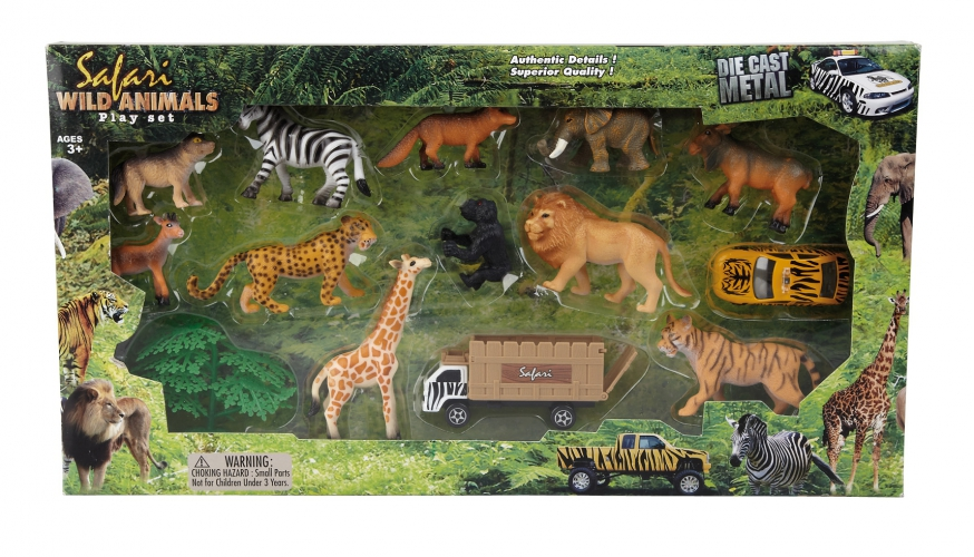 Image of 14-delige speelset safari dieren