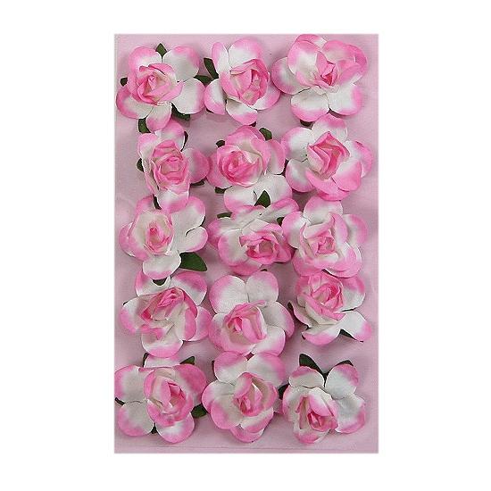 Image of 15 knutsel bloemetjes roze