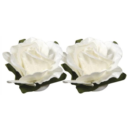 Image of 15 knutsel bloemetjes wit