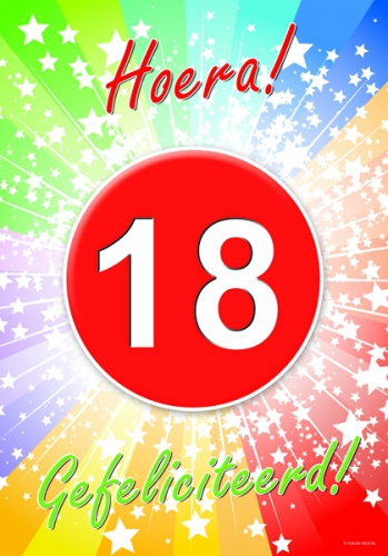 Image of 18 jaar feestartikelen poster
