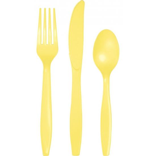 Image of 24 Delig geel bestek