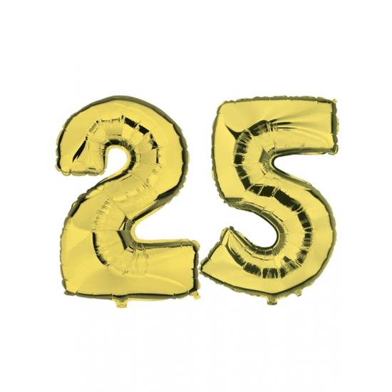 Image of 25 jaar folie ballonnen goud