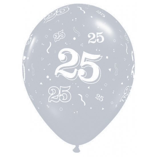 Image of 25 jaar jubileum ballonnen Qualatex