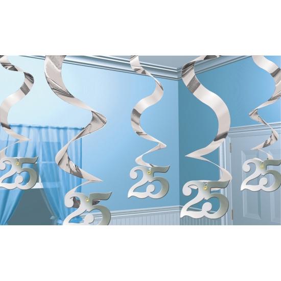 Image of 25 jaar jubileum decoratie spiraal