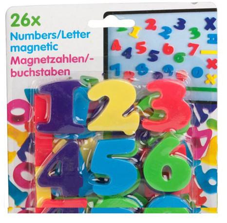 Image of 26 gekleurde cijfers met magneet