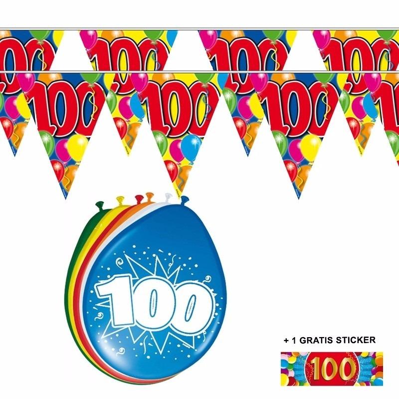 Image of 2x 100 jaar vlaggenlijn + ballonnen