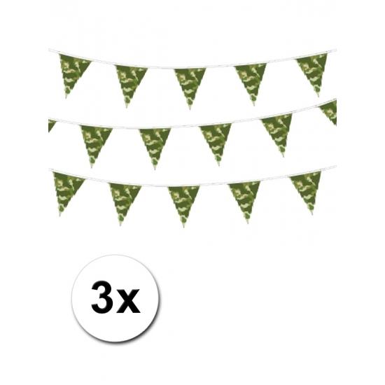 Image of 3 camouflage vlaggenlijnen 10 m