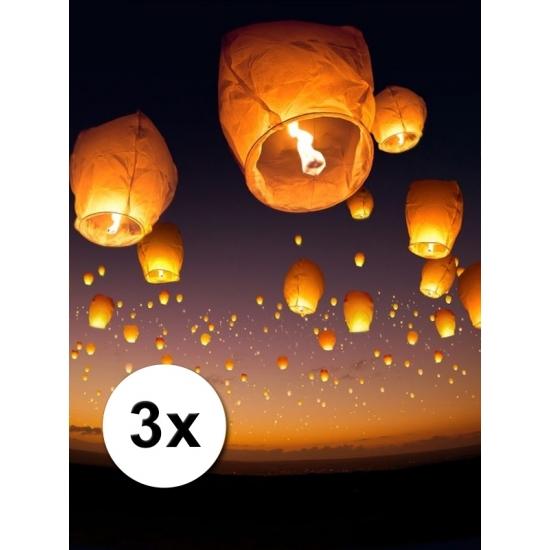 Image of 3 Chinese wensballonnen wit pakket