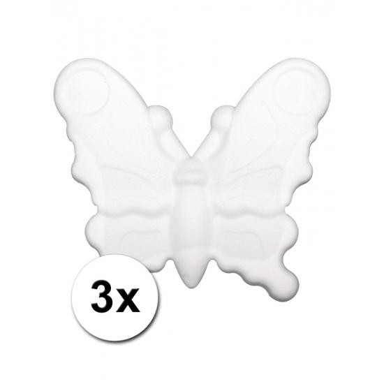 Image of 3 DIY vlinders beschilderen 12,5 cm