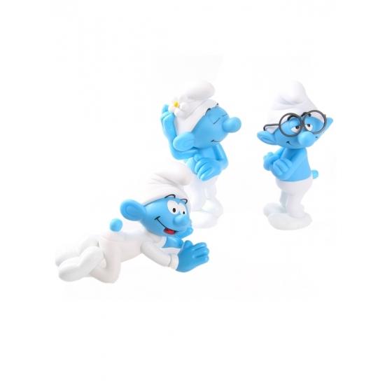 Image of 3 plastic Smurfen 13 cm