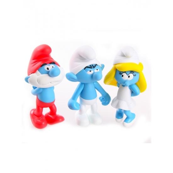 Image of 3 Smurfen van plastic 13 cm