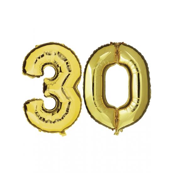 Image of 30 jaar folie ballonnen goud