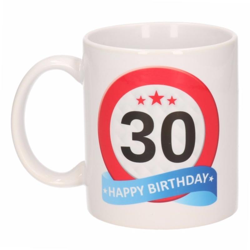 Image of 30 jaar verjaardag verkeersbord theemok 300 ml