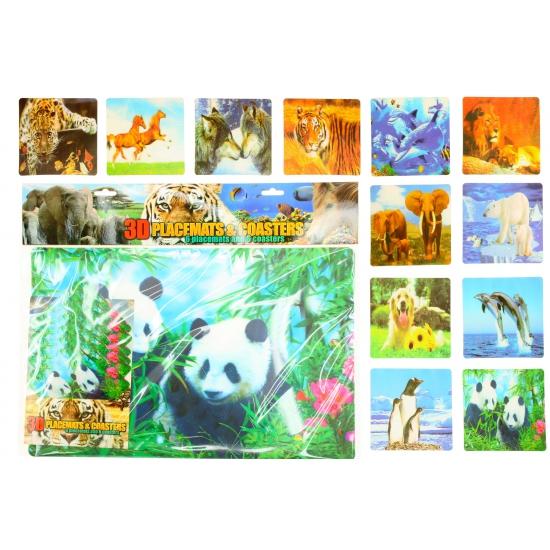 Image of 3D panda placemats en onderzetters