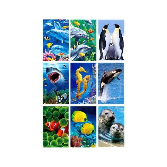Image of 3D stickerset zeedieren