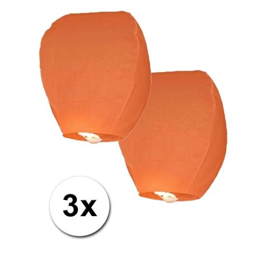 Image of 3x oranje wensballon