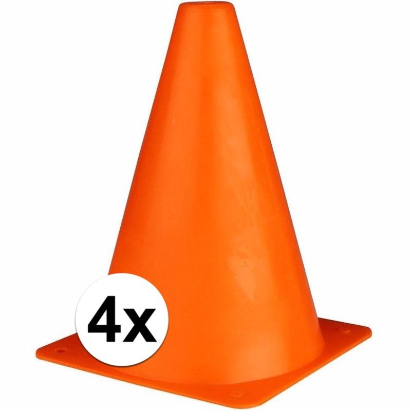 Image of 4 oranje pionnen 19 cm