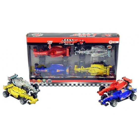 Image of 4 pull back race auto met geluid en licht