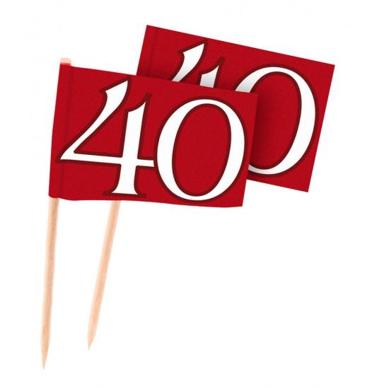 Image of 40 jaar jubileum cocktailprikkers