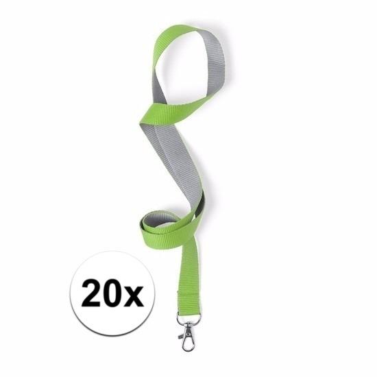 Image of 5 keycords groen/grijs 2 x 50 cm