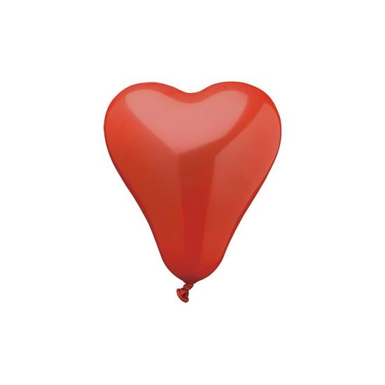 Image of 50 hartjes ballonnen rood