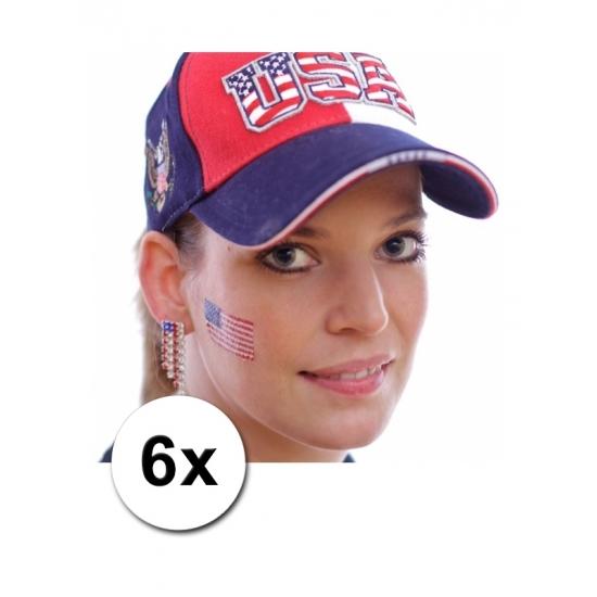 Image of 6 fan artikel Amerikaanse tattoo stickers